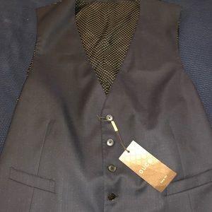 Gucci Men's Navy Wool Vest Size 58R / 46R US